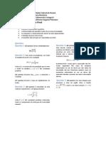 Exame Final de Cálculo I - Engenharia Mecânica UFPR