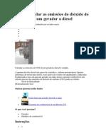Como calcular as emissões de dióxido de carbono de um gerador a diesel