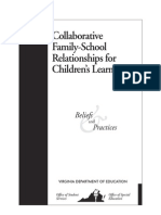 Collaborative Family School Relationships