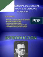 TEORÍA GENERAL DE SISTEMAS APLICADO A LAS CIENCIAS HUMANAS - GRUPO 6