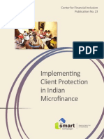 Implementing Client Protection in Indian Microfinance