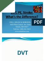 Dvt, Pe, Stroke