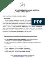Convocatoria Campeonato Tres Aguas 2014