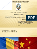 PROIECT ROMÂNIA-CHINA