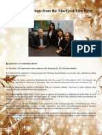 MacLeod Law Firm December Newsletter