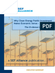 Why Clean Energy Public Investment MISI 2009