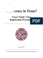 Texas Voting Rights Report