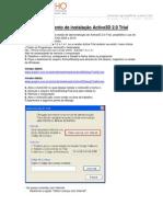 Procedimento de instalação Active3DTrial_2.0