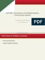 Lectures-15 Input Capture, SONAR