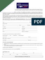 bill richardson 2008 - contribution form