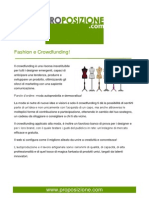 Fashion e Crowdfunding!