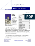 Office of Legislative Research Major Issues for 2014