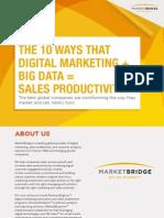 10 Ways Digital Marketing + Data = Sales Productivity