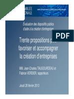 Creation Entreprises Rapport