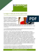 La legge in Italia per chi ha voglia di fare