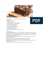 Torta Gelada de Wafer Coberta Com Chocolate