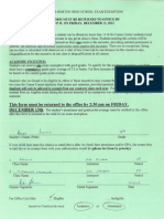exam exemption form