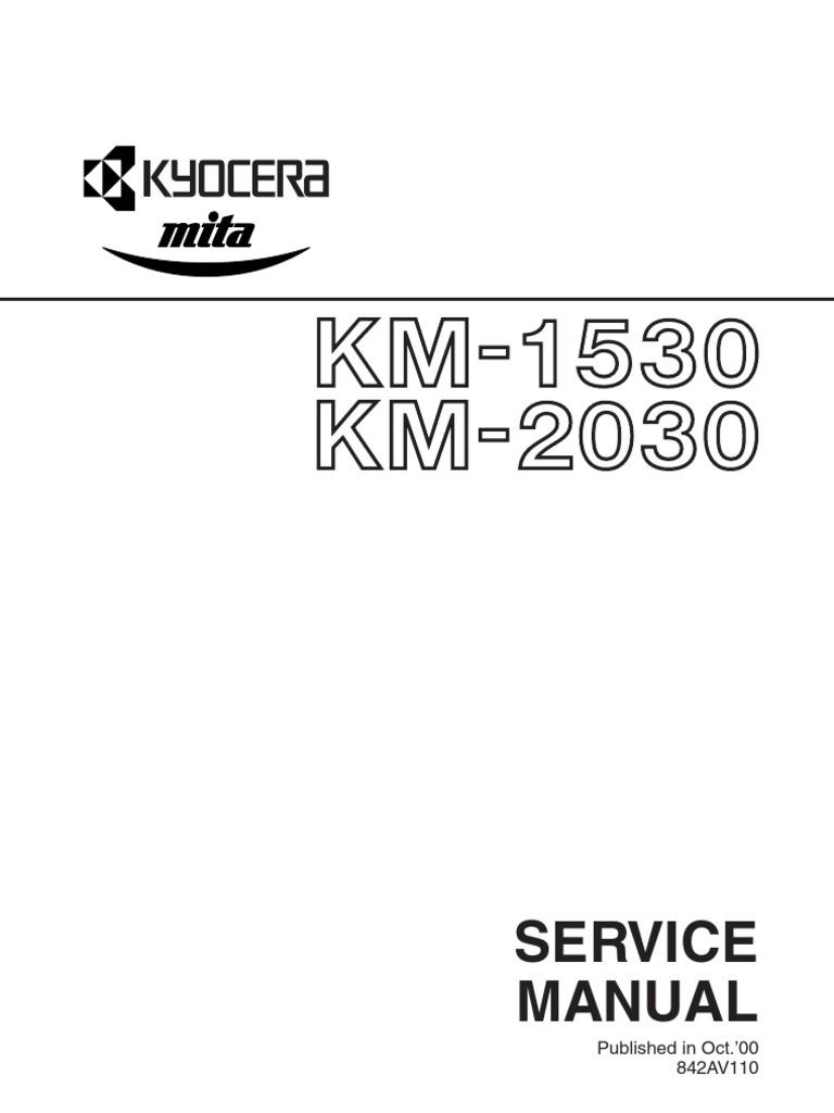 kyoceramita km 1530 2030 service manual uk printed circuit board rh scribd com kyocera mita km 1525 service manual Kyocera Mita FS