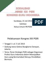 Sosialisasi Kongres Xxi Pgri