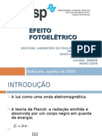 Seminario Efeito Fotoelétrico - V Física Médica - Unesp (2009)
