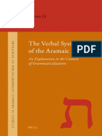 19 the Verbal System of the Aramaic of Daniel