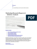Small Business Marketing Research