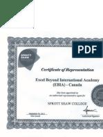 sprott shaw certificate