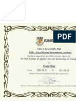 st clair certificate