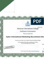 advance international college certficate
