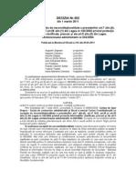 Decizie CCR nr. 302 din 2011 privind informatii clasificate