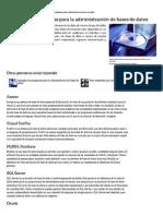 Ejemplos de programas para la administración de bases de datos _ eHow en Español