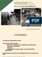 Guatemala, la paz incompleta