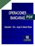 Conoce Las Operaciones Bancarias Jorge Salazar