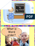 Practice about Word Order(English Language)