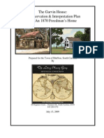 Garvin House Preservation and Stablization Plan