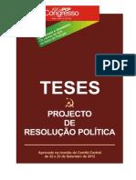 Teses Projecto de Resolucao Politica