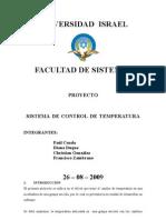 UISRAEL Resumen Sistema de Control Temperatura