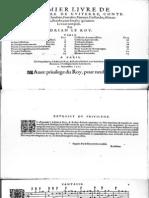 Adrian Le Roy - Premier Livre de Tablature de Guiterre-Paris - 1552
