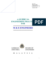 Guide M&E from IEM in becoming and Mechanical and Electrical Engineer