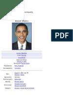 Barack Obama (Wikipedia Biography)