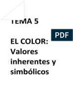 Tema 5- El Color