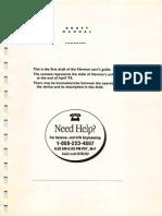 Newton Draft Manual April 1993