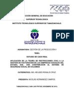 RESTRICCIONES (TOC) A LA GESTIÓN DE FACTURACIÓN DE LAS EMPRESAS SOCIALES DEL ESTADO