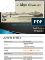 Study on Qubec Bridge Disaster