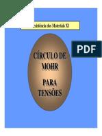 V- Circulo de Mohr Tensoes - UFF