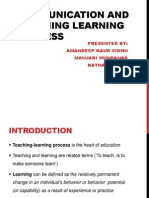 Communication and Teaching Learning Process (1)