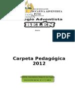 Carpeta Pedagogica 2012 Listo