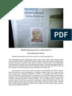 Deindustrialisasi Gula Tebu Rakyat (Perspektif, Jawa Pos Radar Jember, 17 Desember 2013)