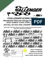 Challenger AC9000 Series Garage Door Operator
