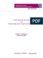 Citizenship and Teacher Education Journal Vol 1 No.2